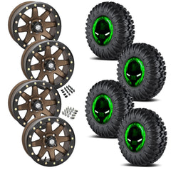 EFX Motoclaw STI HD9 Bronze Beadlock Tire Wheel Kit 27-10-14