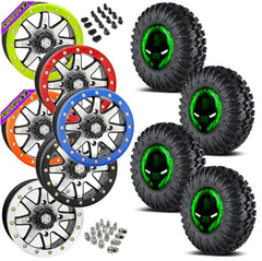EFX Motoclaw STI HD9 Machined Beadlock Tire Wheel Kit 27-10-14