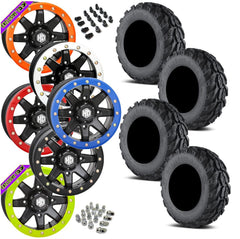 EFX Motogrip STI HD9 Black Beadlock Tire Wheel Kit 28-11-14