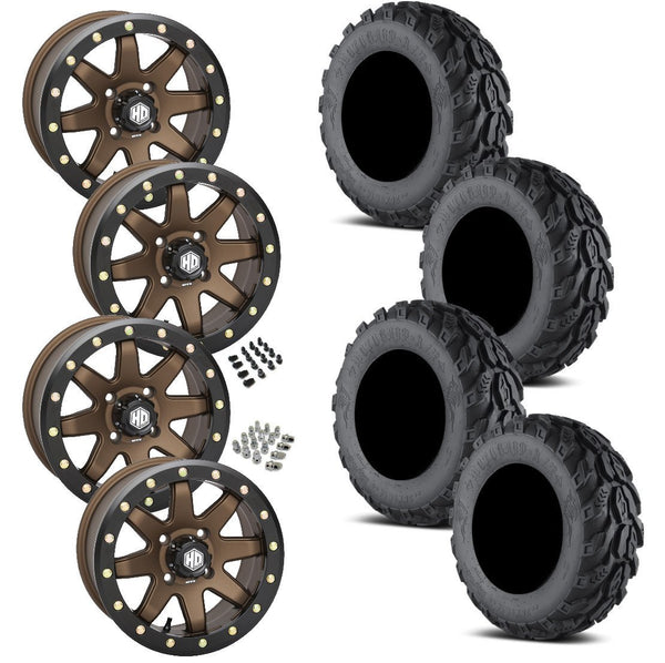 EFX Motogrip STI HD9 Bronze Beadlock Tire Wheel Kit 26-9-14