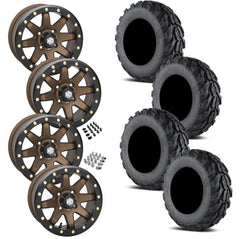 EFX Motogrip STI HD9 Bronze Beadlock Tire Wheel Kit 28-11-14