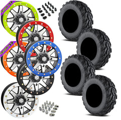 EFX Motogrip STI HD9 Machined Beadlock Tire Wheel Kit 28-11-14