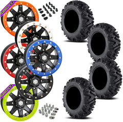 EFX MotoMTC STI HD9 Black Beadlock Tire Wheel Kit 26-9-14