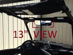 "EMP 13"" Wide Panoramic Rear view Mirror for 1-3/4""-1-7/8"" Round Cages - planetrzr.com"