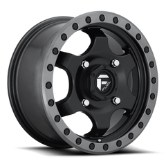Fuel Gatling D639 Wheel / 15X7 | Black Center w/ Anthracite Ring 15 inch
