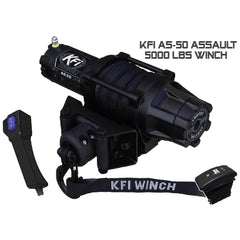 KFI AS-50 Assault 5000 lbs Winch Series Standard and Wide Versions