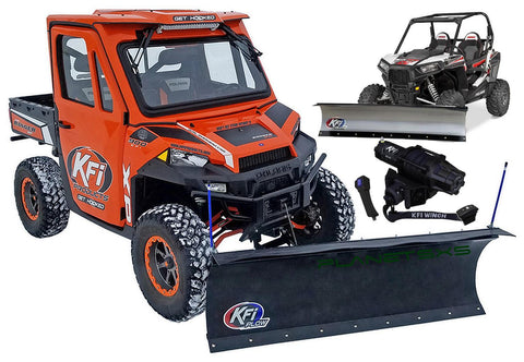 KFI Plow Package (choose blade style/length) add AS-50 Assault winch