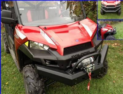 Emp Ranger Xp900 And Full Size Ranger 570 Front Bumper / Brush Guard With Winch Mount