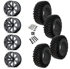 "MSA Black Kore 14"" Wheels 30"" Crawler XG Tires"