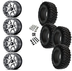 "MSA Lok 14"" Wheels 28"" Crawler XR Tires"