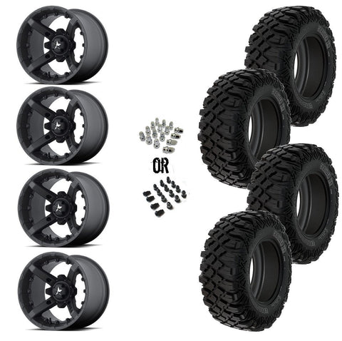 "MSA Black Diesel 14"" Wheels 30"" Crawler XR Tires"