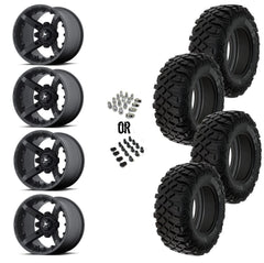 "MSA Black Diesel 15"" Wheels 30"" Crawler XR Tires"