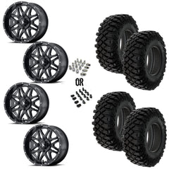 "MSA Black Vibe 14"" Wheels 32"" Crawler XG Tires"