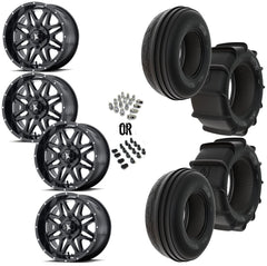 "MSA Black Vibe 14"" Wheels 28"" Dune Tires"