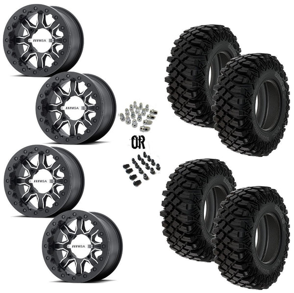 "MSA F1 Beadlock 14"" Wheels 32"" Crawler XG Tires"