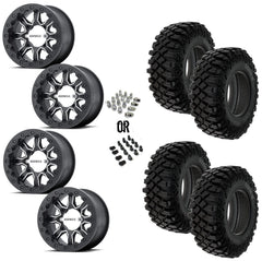 "MSA F1 Beadlock 14"" Wheels 30"" Crawler XG Tires"