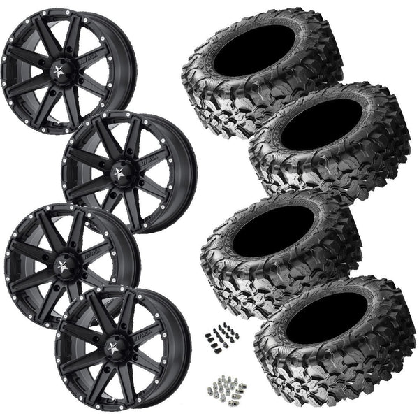 Maxxis Carnivore 30-10-14 on MSA M33 Clutch Satin Black 14x7