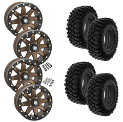 Pro Armor Crawler XG STI HD9 Bronze Beadlock Tire Wheel Kit 32-10-14