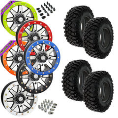 Pro Armor Crawler XG STI HD9 Machined Beadlock Tire Wheel Kit 32-10-14