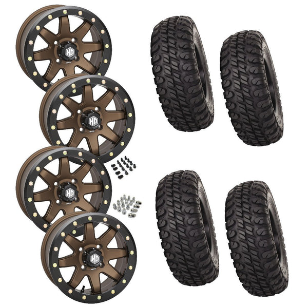 STI Chicane STI HD9 Bronze Beadlock Tire Wheel Kit 28 -10-14