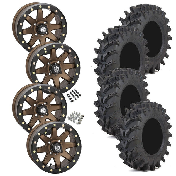 STI Outback Max STI HD9 Bronze Beadlock Tire Wheel Kit 28-10-14