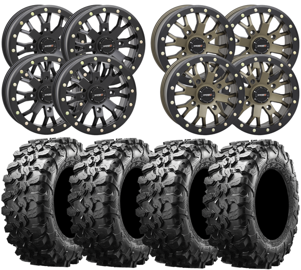 System3 SB 4 and Maxxis Carnivore UTV Wheel and Tire Kit