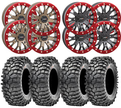 System3 SB 4 and Maxxis Roxxzilla UTV Wheel and Tire Kit
