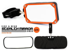 Assault Industries Stealth Series Mirror Kit (sides & Rear View) for Polaris RZR - planetrzr.com