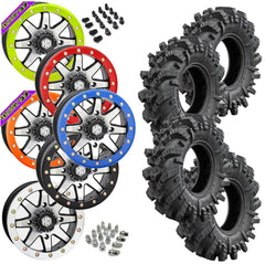 Superatv Intimidator STI HD9 Machined Beadlock Tire Wheel Kit 26.5-10-14