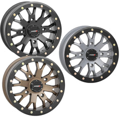 System 3 SB-4 UTV Beadlock Wheel 14in 15in Matte Black Bronze Cement Grey