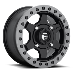 Fuel Gatling D914 Beadlock Wheel / Matte Black w/ Anthracite Ring 15 inch