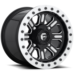 Fuel Hardline D910 Beadlock Wheel / Gloss Black & Milled 15 inch