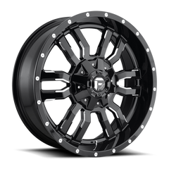 Fuel Sledge D595 Wheel / Gloss Black & Milled 20 inch