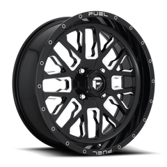 Fuel Stroke D611 UTV Wheel / Gloss Black & Milled 18, 20 inch
