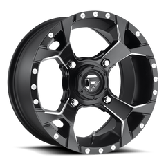 Fuel Assault D546 UTV Wheel / Black & Milled 14, 15inch