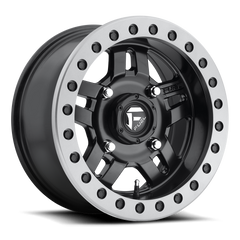 Fuel Anza D917 Beadlock Wheel / Matte Black w/ Anthracite Ring 14, 15 inch