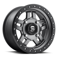Fuel Anza D558 UTV Wheel / Matte Anthracite w/ Black Ring 14, 15 inch
