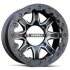 MSA F1 UTV Wheel w/ Carbon Beadlock Ring 14x7 4/156 and 4/137