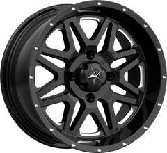 MSA M26 VIBE MILLED GLOSS BLACK UTV WHEELS buy at planetsxs and snyderpowersports