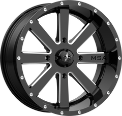 MSA M34 FLASH GLOSS BLACK UTV WHEELS buy at planetsxs and snyderpowersports