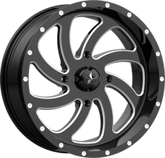 MSA M36 SWITCH BLACK MILLED UTV WHEELS buy at planetsxs and snyderpowersports