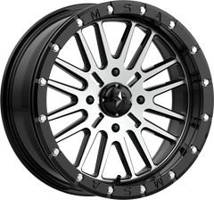 "MSA M37 BRUTE Beadlock UTV Wheels Gloss Black / Machined 14"" 15"" and 18"""