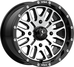 MSA M38 Brute (Non B-Lock) UTV Wheel Gloss Black Machined 14/15/16/18/20/22/24 inch sizes
