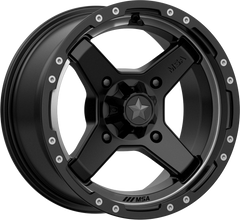 MSA M39 Cross UTV Wheel Satin Black Titanium Tint Choose Size