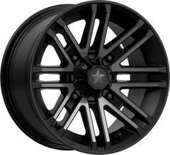 "MSA M40 ROGUE UTV Wheels Satin Black Titanium Tint 14"" 15"" and 16"""