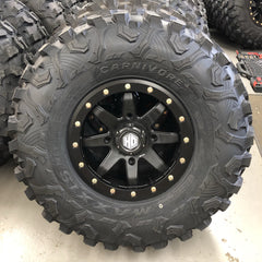 STI HD9 Bead Lock Matte Black on 32-10-15 Maxxis Carnivore 5+2 4/156 Polaris