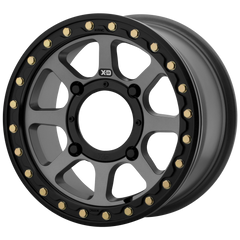 KMC XS234 Addict 2 Beadlock UTV Wheels Satin Grey | Satin Black | Machined