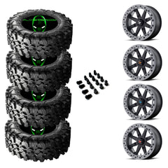MSA M31 LOK wheel w/ Maxxis Carnivore tire kit-choose cap color