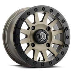 ICON COMPRESSION Beadlock UTV Wheels 15x7 Bronze Finish