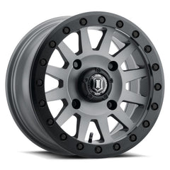 ICON COMPRESSION Beadlock UTV Wheels 15x7 Titanium Finish